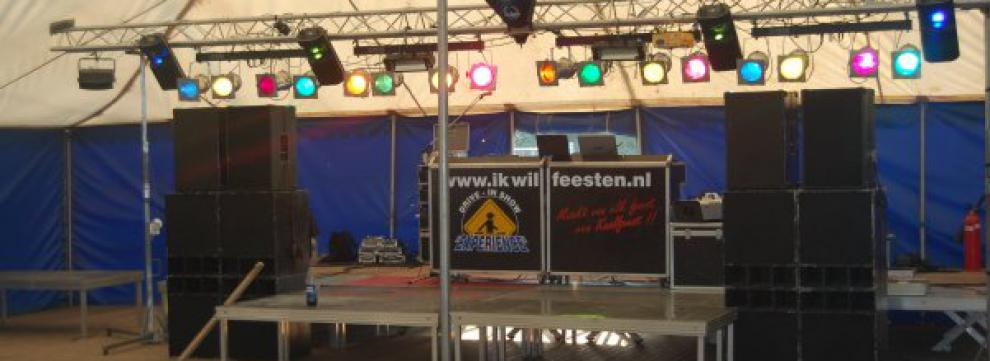 drive-in show opstelling groot oud